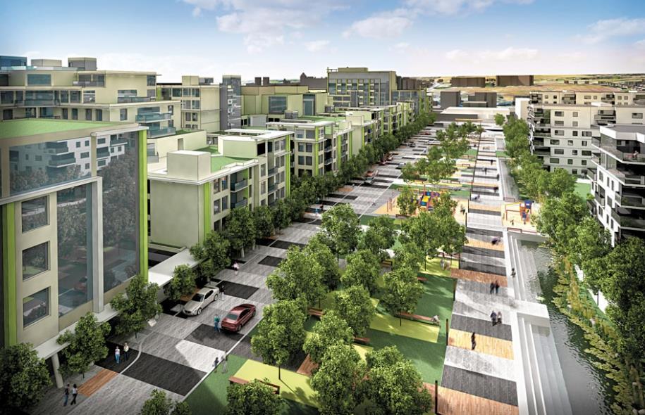 Les écoquartiers sont au cœur de la stratégie de densification autour des axes de transport en commun, et celui d'Estimauville est l'un des sites avec le plus de potentiel pour devenir un TOD. Source : Ville de Québec.