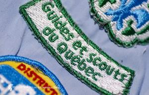 Photographie d'écussons scouts