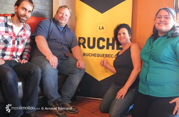 Limoilou en vrac lors du lancement de leur campagne de financement sur la Ruche