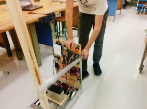 Le prototype du robot présenté par l'École secondaire Jean-de-Brébeuf - Photo courtoisie
