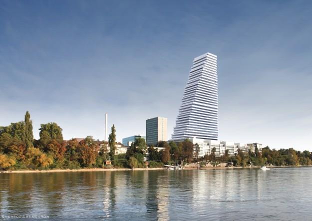 Das geplante Bürogebäude 'Bau 1'