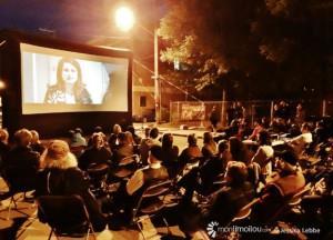 Ciné-parc sur la 12e Rue avec projection de Limoilou le film pour clôturer le Grand Bazar des Ruelles le 6 juin dernier.