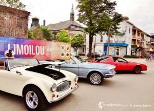 Exposition de vieilles voitures entre la 6e et 7e Rue lors de Limoilou en musique ce samedi 20 juin.