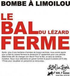 Annonce du Bal du lézard sur Facebook le 30 août dernier.