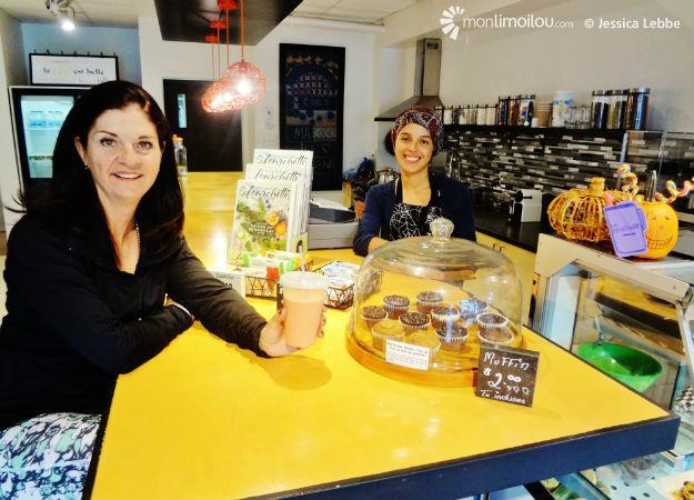 Nancy Couture, propriétaire de Gym Profil, a fait appel à Macarena pour bâtir l'offre du bar santé.