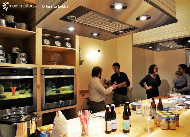 la folle fourchette inaugure sa cuisine monlimoilou. Black Bedroom Furniture Sets. Home Design Ideas