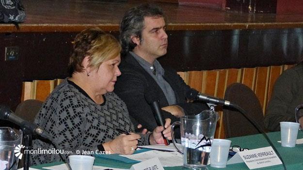 Plaza Limoilou, présentation publique du bilan. Suzanne Verreault et Vincent Roy. 8 décembre 2015.