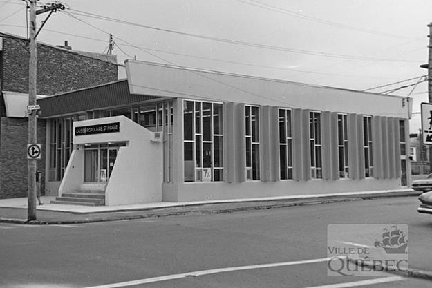 Caisse populaire St-Fidèle. Archives de la Ville de Québec.