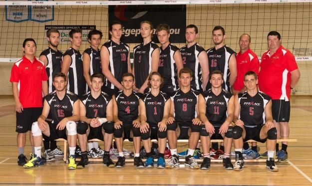 L'équipe de volleyball masculin division 1 des Titans du Cégep Limoilou a connu un parcours sans fautes à la Coupe de l'Est du Canada. (Photo : courtoisie)