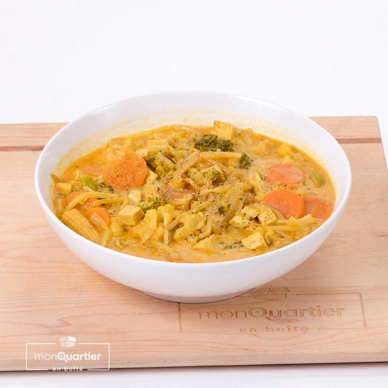 Soupe thaï végane