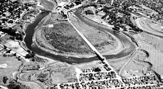 Limoilou dans les années 1930 (2) : vue aérienne du secteur Pointe-aux-Lièvres - Jean Cazes