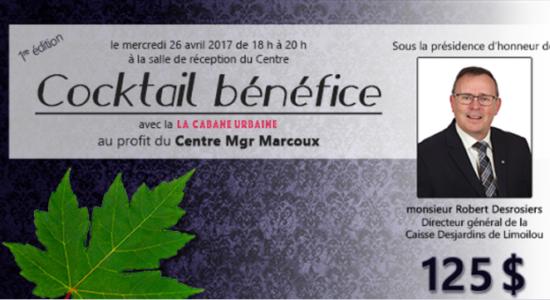 Centre Mgr-Marcoux : un premier cocktail bénéfice - Monlimoilou
