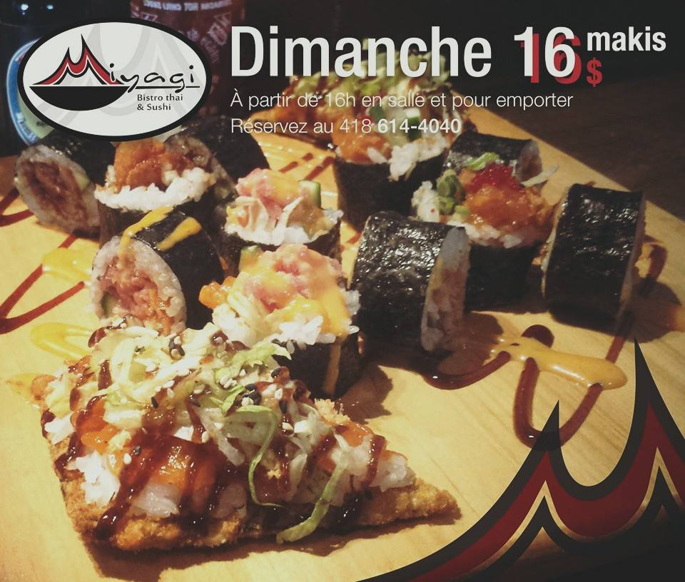 Plateau du dimanche   Miyagi Bistro thaï et sushi
