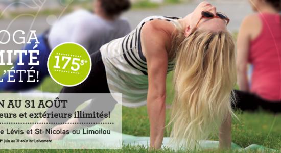 Promo d'été | Namaste Yoga Limoilou