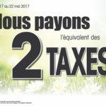 2 taxes payées - Juneau