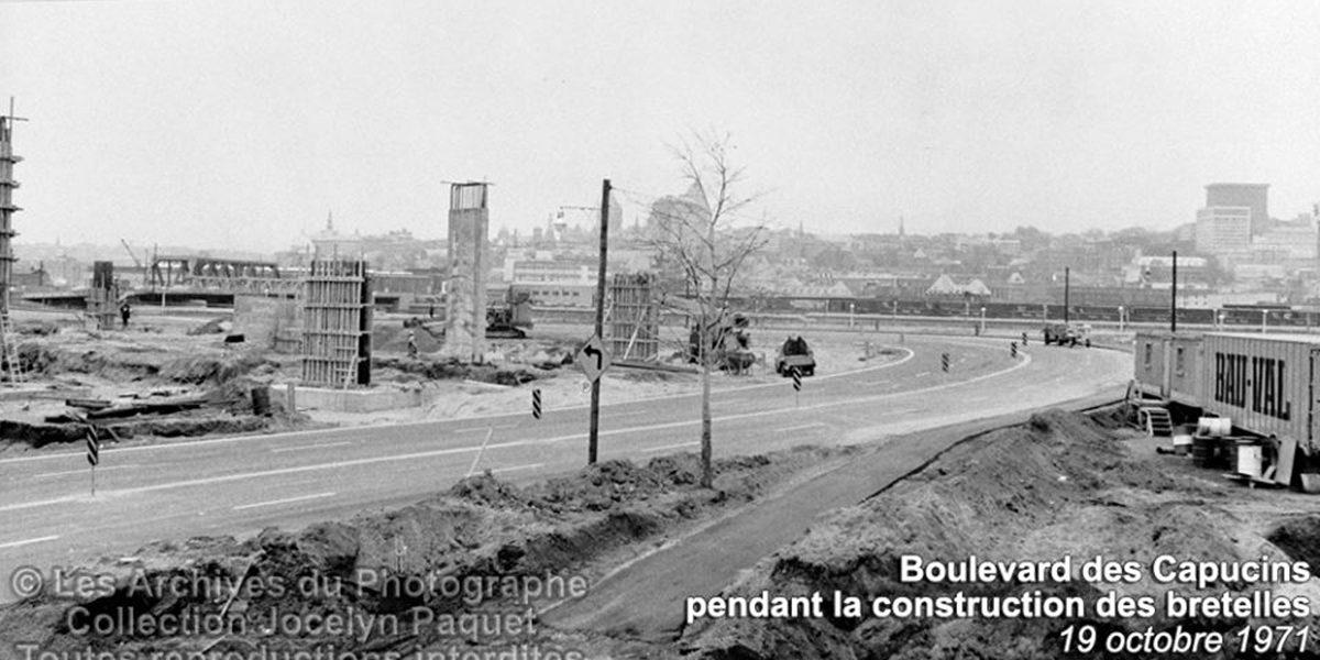 Limoilou dans les années 1970 (22) : construction des bretelles de Dufferin | 11 juin 2017 | Article par Jean Cazes