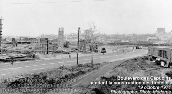 Limoilou dans les années 1970 (21) : construction des bretelles de Dufferin - Jean Cazes