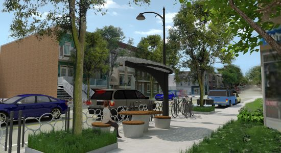 L'intégration permanente de la place Limoilou participera à la nouvelle identité visuelle de la 3e Avenue sur laquelle travaille la SDC.