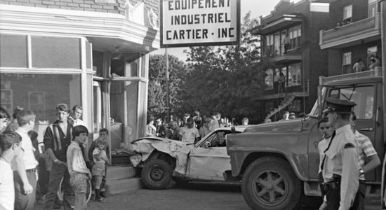 Limoilou dans les années 1960 (81) : accident sur la 8e Avenue - Jean Cazes