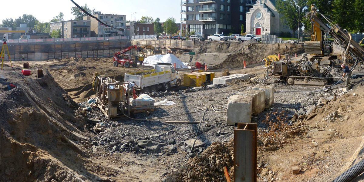 Début de la construction de Synase. 13 septembre 2017.