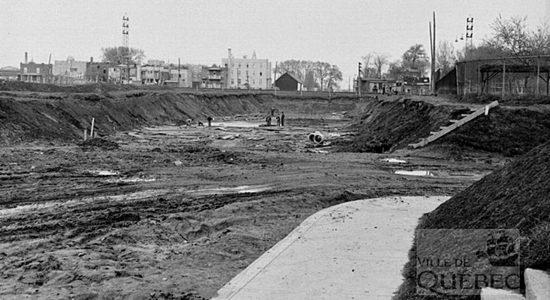 Limoilou dans les années 1940 (26) : construction du viaduc de la 18e Rue - Jean Cazes