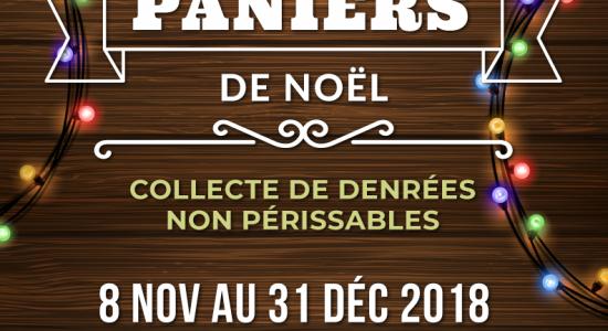 Paniers de Noël – Collecte de denrées non périssables