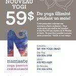 Premier mois à 59$ - Namaste Yoga Limoilou