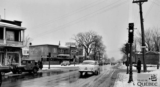 Intersection avenue Champfleury, le 27 janvier 1954