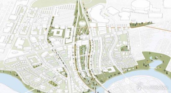 Le Saint-Michel, un ancien ruisseau disparu depuis longtemps sous le béton et l'asphalte, renaîtrait au cœur du nouveau quartier.