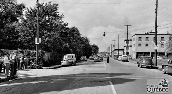 Limoilou dans les années 1950 (47) : scène d'accident sur le boulevard des Capucins - Jean Cazes