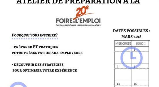 Prêt pour la Foire de l'emploi avec notre atelier PRÉ-FOIRE