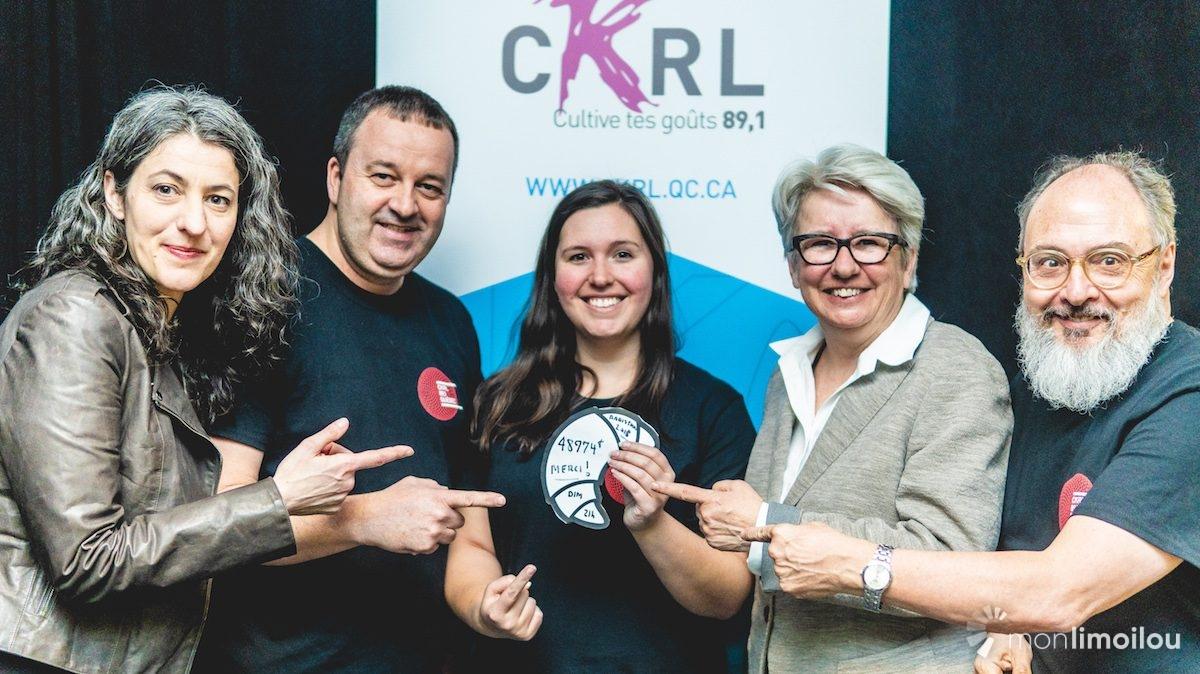 Une somme record pour le Radiothon 2018 de CKRL | 12 avril 2018 | Article par Monlimoilou