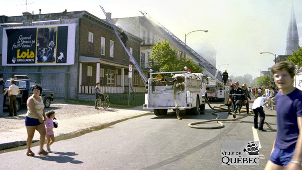 Limoilou dans les années 1970 (31) : incendie sur la 2e Avenue | 4 août 2018 | Article par Jean Cazes