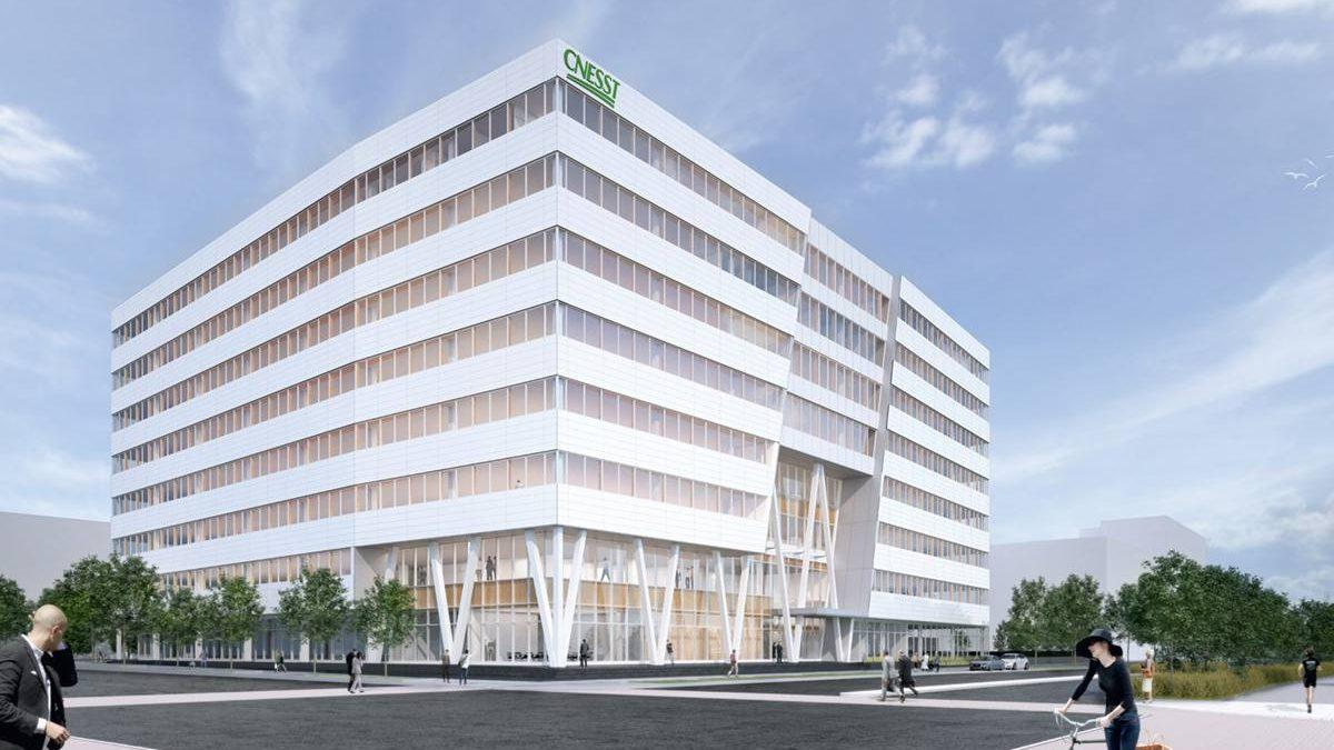 Siège social de la CNESST : nouvel immeuble phare de l'écoquartier D'Estimauville | 14 août 2018 | Article par Jean Cazes