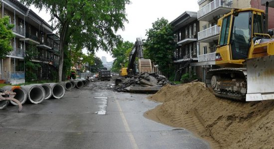 Travaux d'infrastructure, 3e Avenue. 2010.