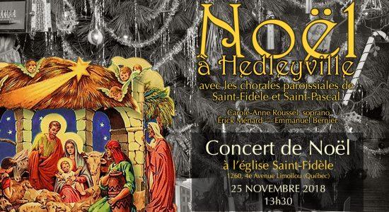 Concert Noël à Hedleyville