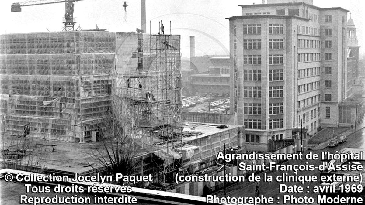 Limoilou dans les années 1960 (102) : agrandissement de l'hôpital Saint-François d'Assise | 5 janvier 2019 | Article par Jean Cazes