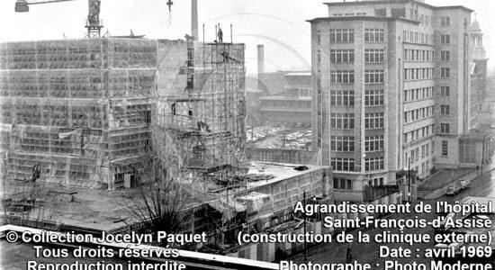 Limoilou dans les années 1960 (102) : agrandissement de l'hôpital Saint-François d'Assise - Jean Cazes