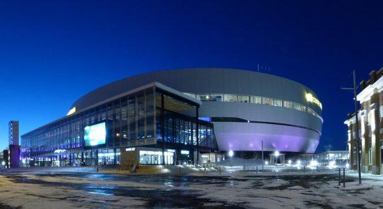 Le Centre Vidéotron achevé. 17 janvier 2016.