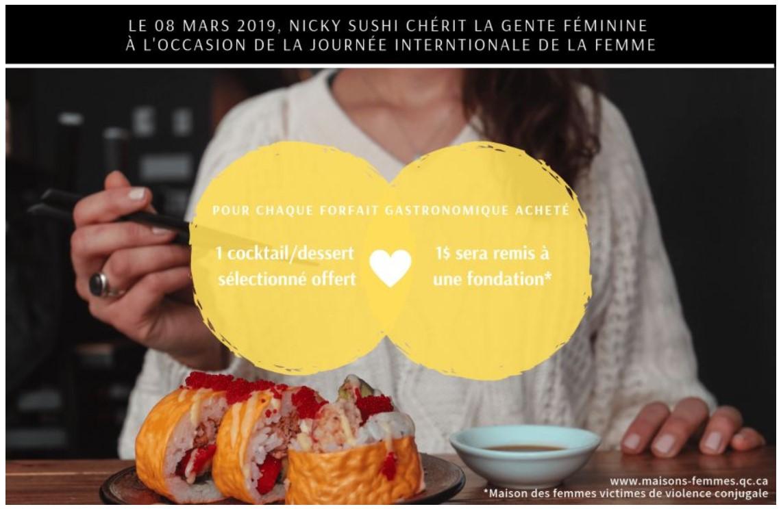 1 cocktail / dessert offert | NICKY SUSHI
