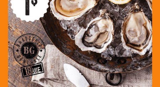 Lundi 5 à Huître (1$) | Brasserie Générale – 18e Rue