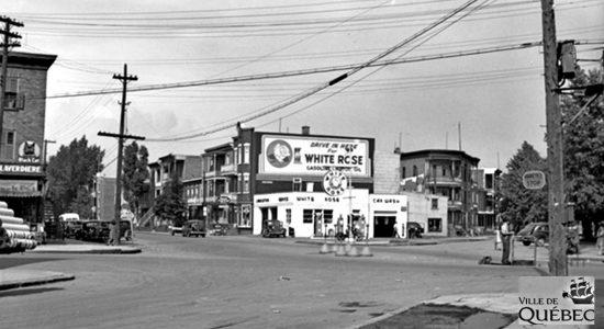 Limoilou dans les années 1940 (38) : la station-service White Rose du Vieux-Limoilou - Jean Cazes