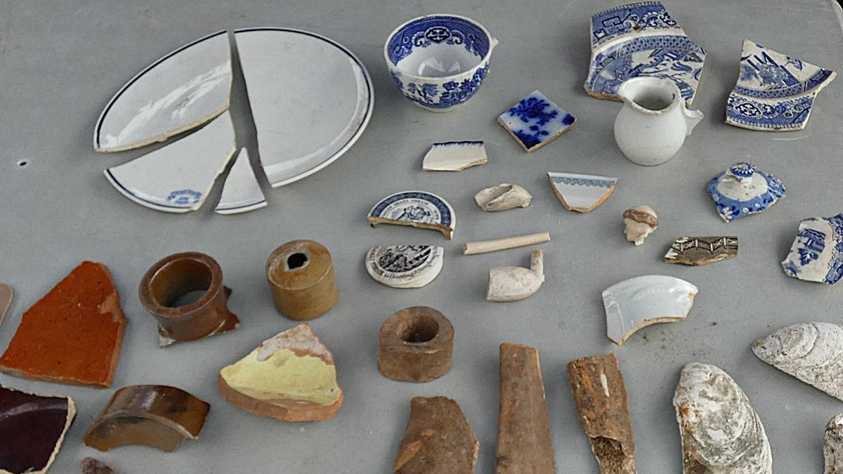 Artefacts trouvés dans la grange