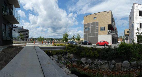 Site de l'écoquartier en date du 11 août 2019. Maisons de ville.