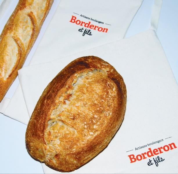 Sac à pain Borderon   Boulangerie Borderon Le Fils