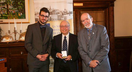 Réjean Lemoine reçoit la médaille de reconnaissance de la Société historique de Québec - Suzie Genest