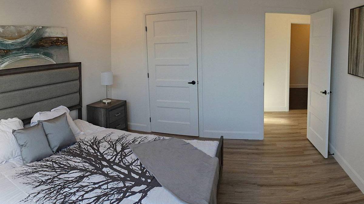 Condo modèle : principale chambre