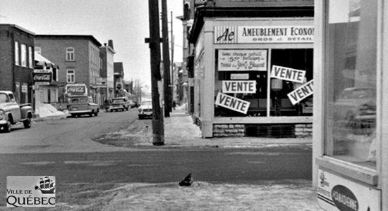 Limoilou dans les années 1960 (121) : Ameublement Économique - Jean Cazes