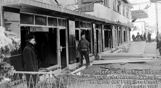 Limoilou dans les années 1960 (122) : incendie d'un immeuble commercial de Lairet - Jean Cazes