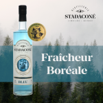 Gin bleu Stadaconé, médaille d'or au Canadian Artisan Spirit Competition 2020 - Distillerie Stadaconé